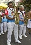 Brazilian carnival street parade in Sao Paulo Stock Photo