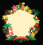Brazilian Carnival. Vector colorful background. Frame for design Royalty Free Stock Images