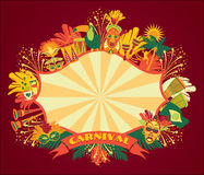 Brazilian Carnival. Vector colorful background. Royalty Free Stock Photography
