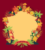 Brazilian Carnival. Vector colorful background. Frame for design Stock Image