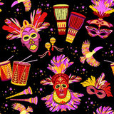 Brazilian Carnival. Vector colorful background. Stock Images