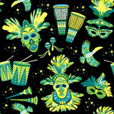 Brazilian Carnival. Vector colorful background. Royalty Free Stock Photo