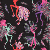 Brazilian Carnival. Vector seamless pattern. Royalty Free Stock Images