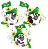 Brazilian cartoon ball stock images