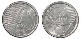 Brazilian centavos coin Royalty Free Stock Photos