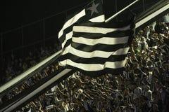 Brazilian championship 2016. Rio de Janeiro, Brazil - october 01, 2016: Fan flag player in match between Botafogo and Corinthians by the Brazilian championship Stock Image