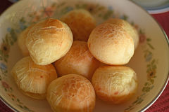 Brazilian cheese bread. A batch of brazilian cheese bread for breakfast or afternoon snack Stock Photo