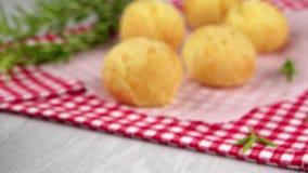 Brazilian cheese buns stock video footage