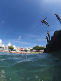 Brazilian Children Diving Salvador Brazil Royalty Free Stock Images