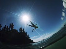 Brazilian Children Diving Salvador Brazil Royalty Free Stock Photo