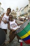 Brazilian Children Drumming Pelourinho Salvador Bahia royalty free stock images