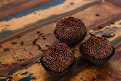 Brazilian chocolate  bonbon brigadeiro Royalty Free Stock Image