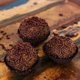 Brazilian chocolate truffle bonbon brigadeiro Stock Images