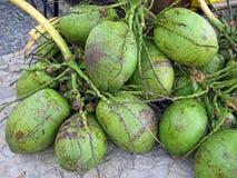 Brazilian coconuts agua de coco Royalty Free Stock Photography