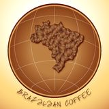 Brazilian coffee. Brazilian original coffee logo concept stock illustration