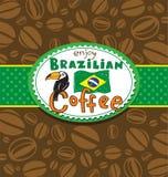 Brazilian coffee background Stock Photos