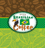 Brazilian coffee background Royalty Free Stock Images