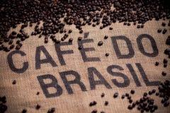 Brazilian coffee bag royalty free stock photo