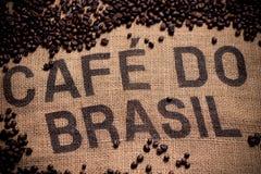 Brazilian coffee bag stock image