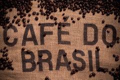 Brazilian coffee bag royalty free stock images