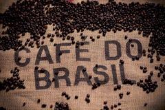 Brazilian coffee bag stock photography