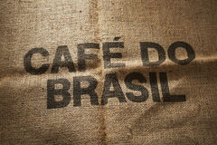 Brazilian coffee bag. Royalty Free Stock Photos