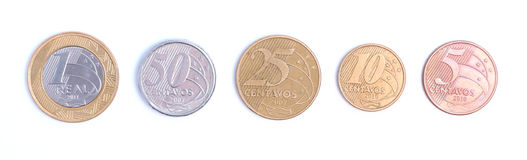 Brazilian Coins Royalty Free Stock Photography