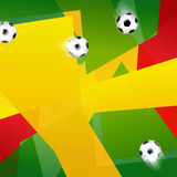 Brazilian Colored Soccer Design Stock Photos