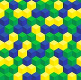 Brazilian colors seamless pattern Royalty Free Stock Photos