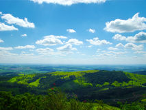 Brazilian countryside. Under beautiful blue sky stock images