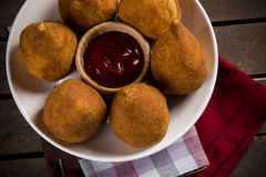Brazilian Coxinha Royalty Free Stock Photo