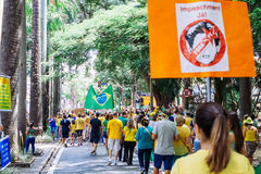 Brazilian Crowd Royalty Free Stock Photos
