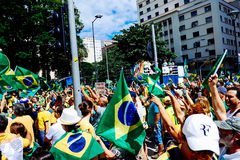 Brazilian Crowd Stock Image