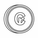 Brazilian cruzeiro symbol icon, outline style Royalty Free Stock Image