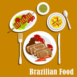 Brazilian cuisine dinner dishes and snacks Royalty Free Stock Image