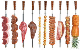 Brazilian cuisine grilled. Isoleted on white Royalty Free Stock Photos