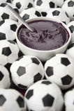Brazilian Culture Acai and Football Soccer Balls Royalty Free Stock Photography