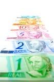 Brazilian Currencies Stock Photo