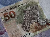 Brazilian currency close up Stock Image
