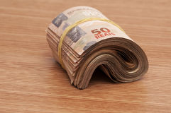 Brazilian Currency (Real) Royalty Free Stock Photography