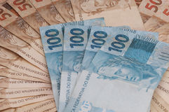 Brazilian Currency (Real) Royalty Free Stock Images