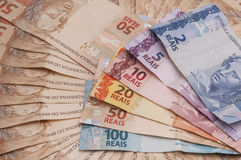 Brazilian Currency (Real) Stock Photo
