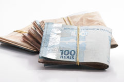 Brazilian Currency (Real) Royalty Free Stock Photo
