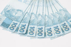 Brazilian Currency (Real) Stock Photography