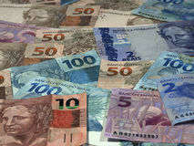 Brazilian currrency Royalty Free Stock Photography