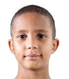 Brazilian cute boy isolated on white background Stock Photo