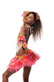 Brazilian dancer isolated on white Royalty Free Stock Images