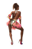 Brazilian dancer isolated on white Stock Photography