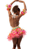 Brazilian dancer isolated on white Royalty Free Stock Photography