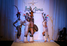 Brazilian dancers opening runway show for the Luli Fama Swimwear Stock Photography